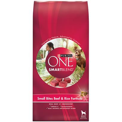 Purina One SmartBlend Small Bites Beef & Rice Formula 16.5 Lb bag picture